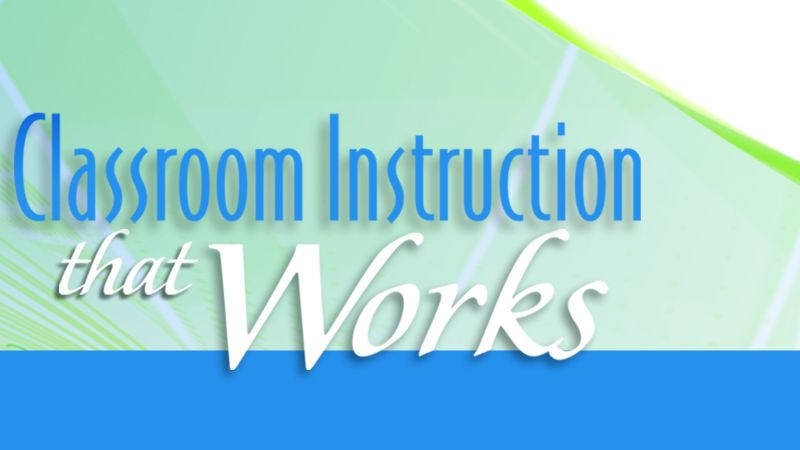 Wall chart for classroom instruction that works, 2nd edition (pack.